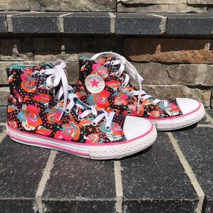 Converse All Star Floral Sneakers, Junior 4.5